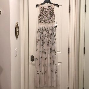 Long lace and sequin dress